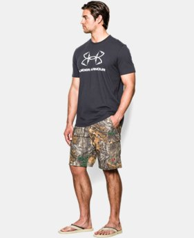 Men's UA Fish Hunter Camo Shorts  1 Color $74.99