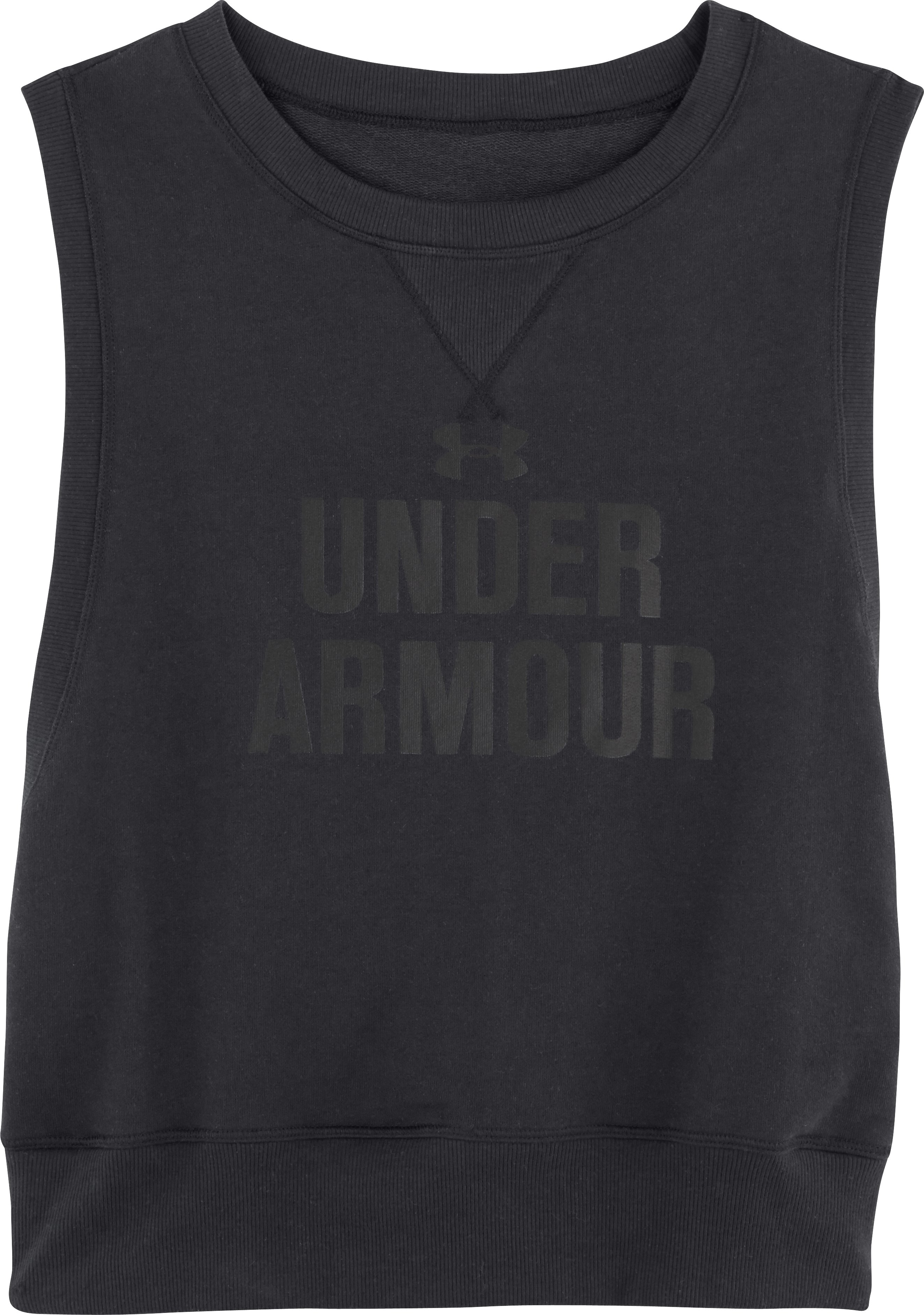 Women's UA Pretty Gritty Blackout Vest, Black , Laydown