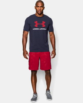 Men's UA Sportstyle Logo T-Shirt  1  Color Available $14.99 to $18.74