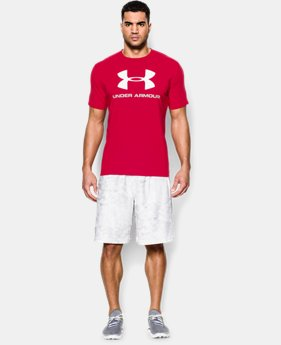 Best Seller Men's UA Sportstyle Logo T-Shirt  1  Color Available $18.99 to $24.99
