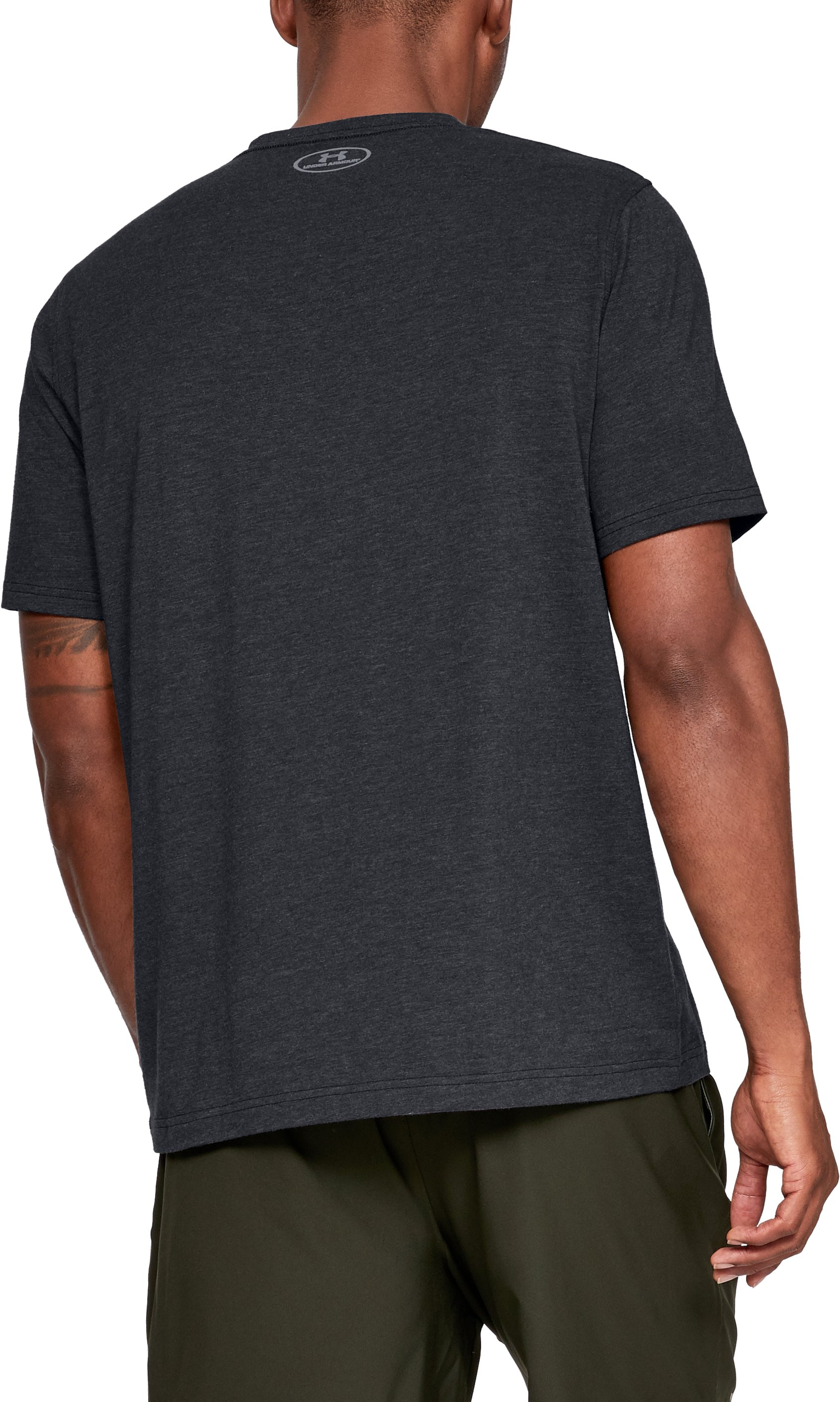 Men's UA Charged Cotton® Left Chest Lockup T-Shirt, Black , undefined