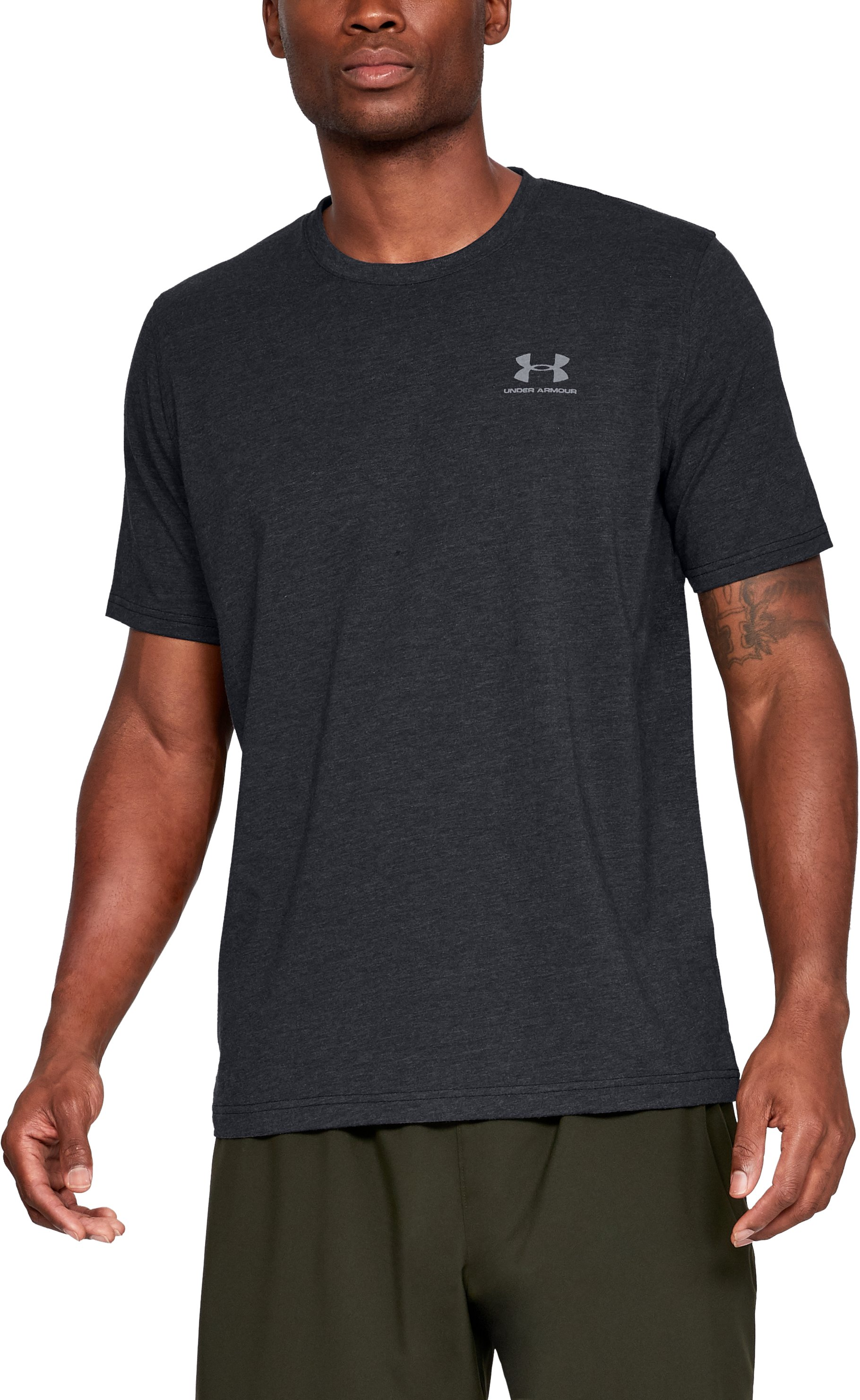 Men's UA Charged Cotton® Left Chest Lockup T-Shirt 5 Colors $18.74