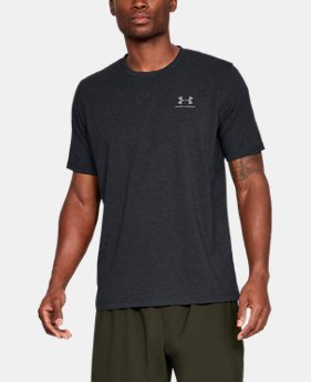 Best Seller Men's UA Charged Cotton® Left Chest Lockup T-Shirt  4  Colors Available $14.99