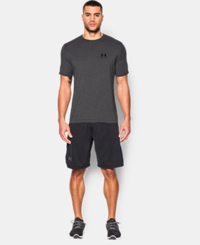 Best Seller Men's UA Charged Cotton® Left Chest Lockup T-Shirt  2  Colors Available $24.99