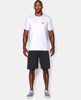 Best Seller Men's UA Charged Cotton® Left Chest Lockup T-Shirt  2  Colors Available $18.74