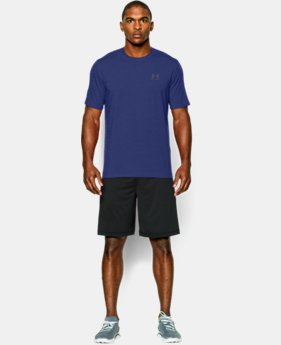Best Seller  Men's UA Charged Cotton® Left Chest Lockup T-Shirt LIMITED TIME: FREE SHIPPING 1  Color Available $29.99