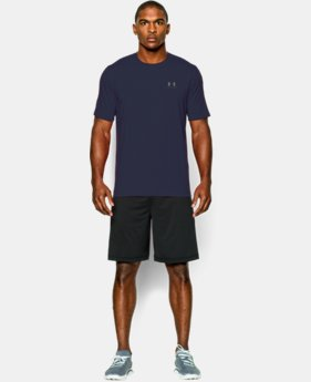 Best Seller Men's UA Charged Cotton® Left Chest Lockup T-Shirt  1  Color Available $18.74