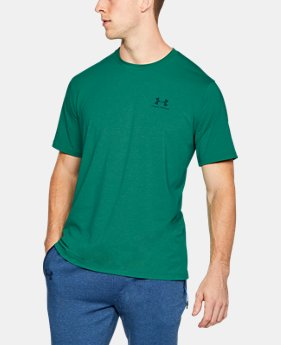 Best Seller Men's UA Charged Cotton® Left Chest Lockup T-Shirt  2 Colors $24.99