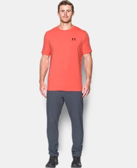 Best Seller Men's UA Charged Cotton® Left Chest Lockup T-Shirt  4 Colors $17.49