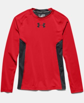 Boys' UA HeatGear® Armour Up Long Sleeve Fitted Shirt