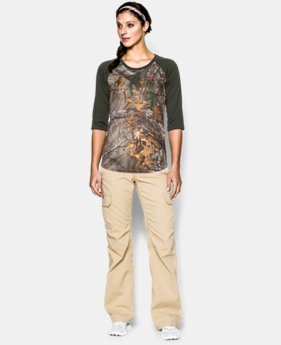 Women's UA Tech Camo ¾ Sleeve  1 Color $29.99