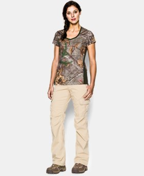 Women's UA Tech Camo Short Sleeve  1 Color $22.49