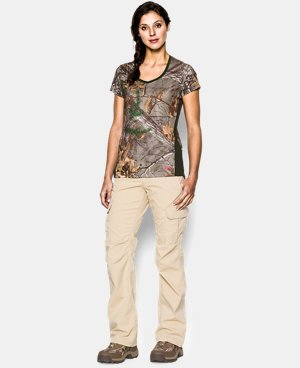 Women's UA Tech Camo Short Sleeve  1 Color $20.24