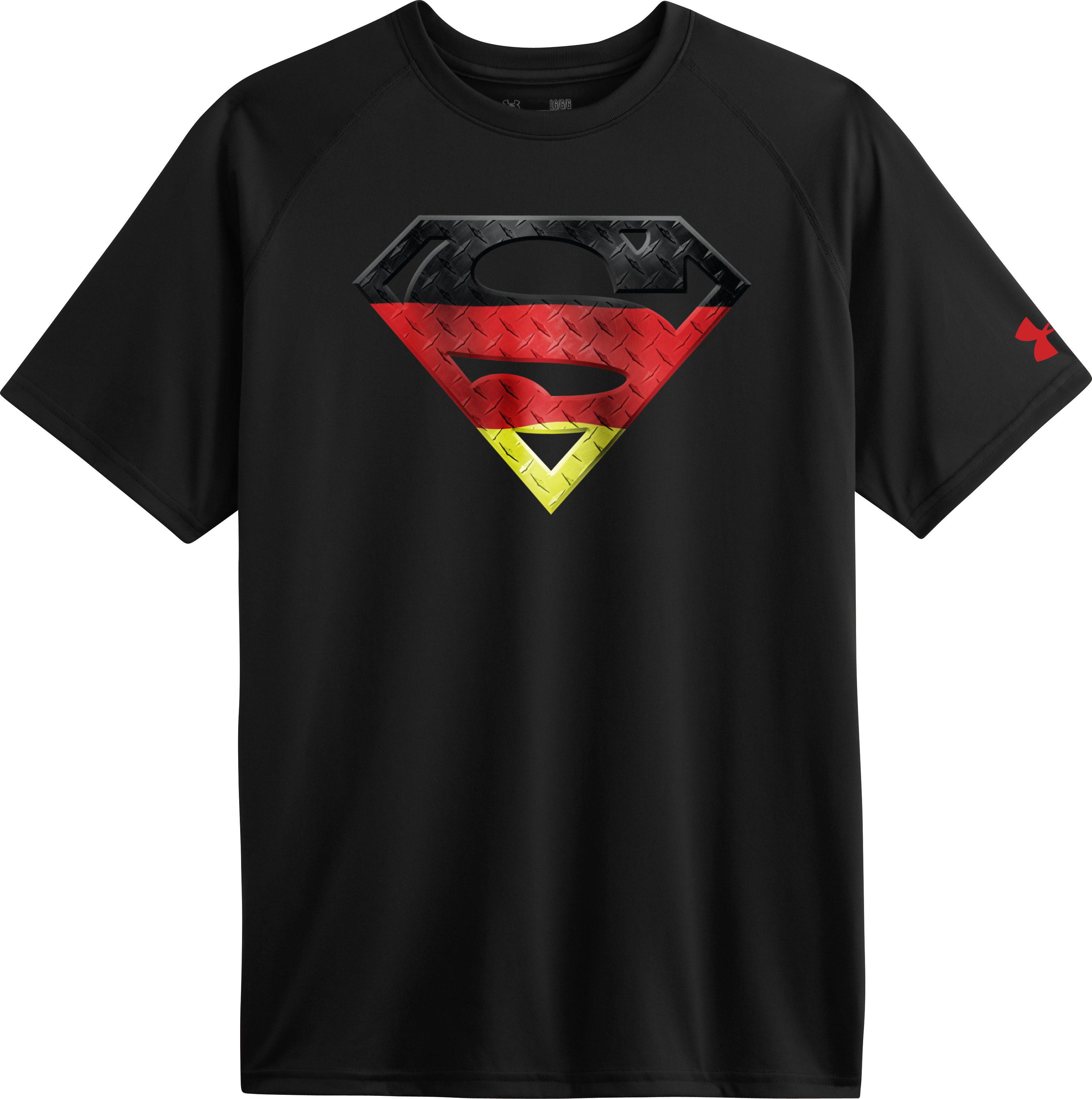 Men's Germany Under Armour® Superman T-Shirt, Black , Laydown