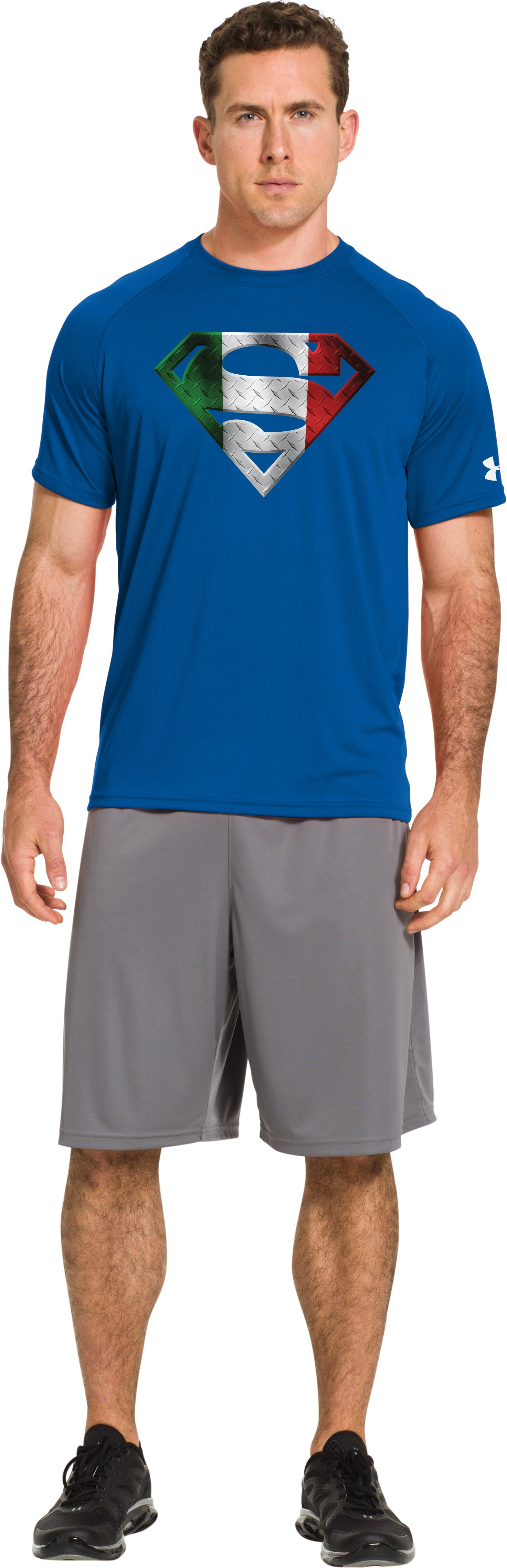 Men's Italy Under Armour® Superman T-Shirt, SUPERIOR BLUE, Front