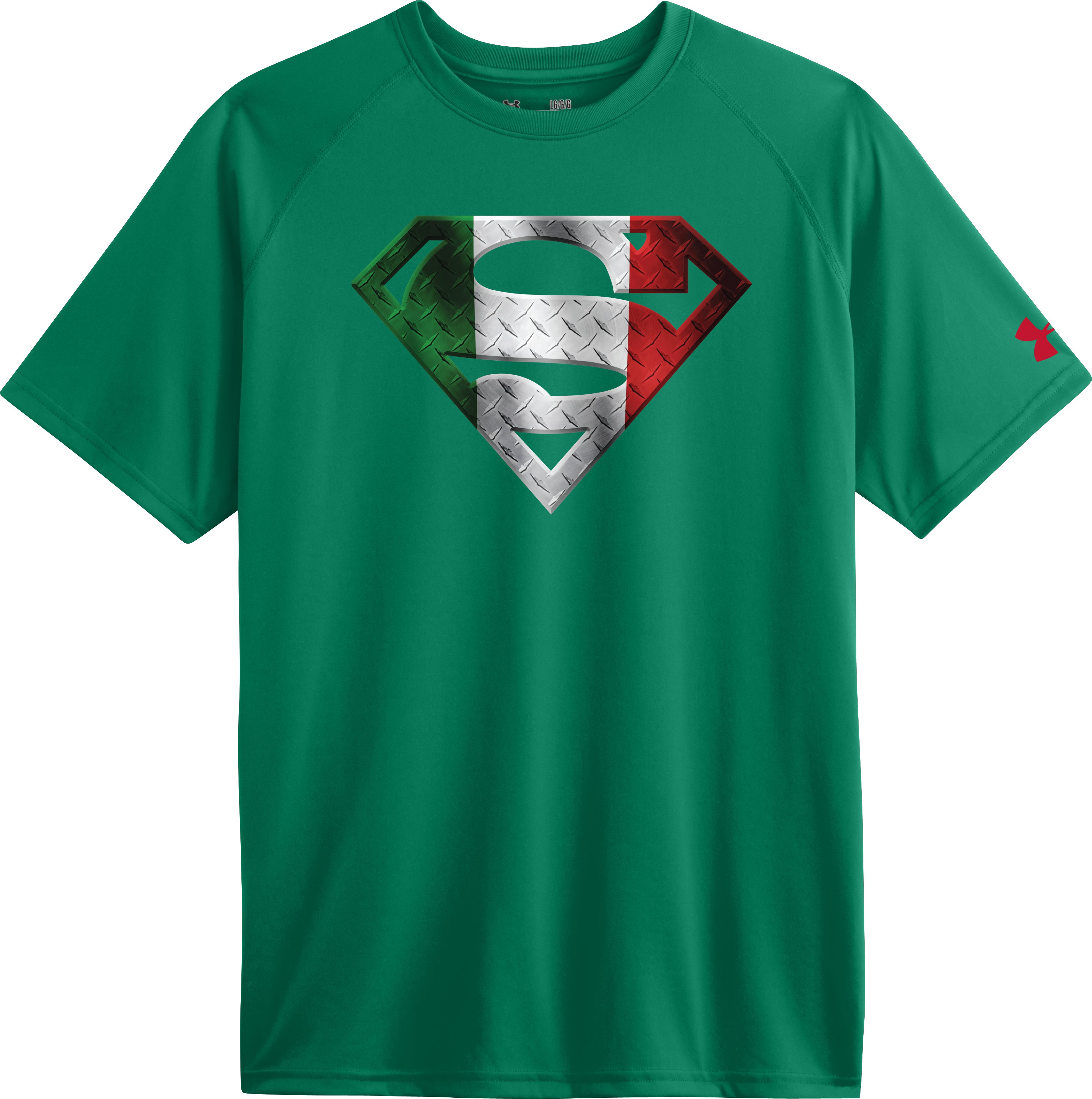 Men's Mexico Under Armour® Alter Ego Superman T-Shirt, Classic Green, Laydown