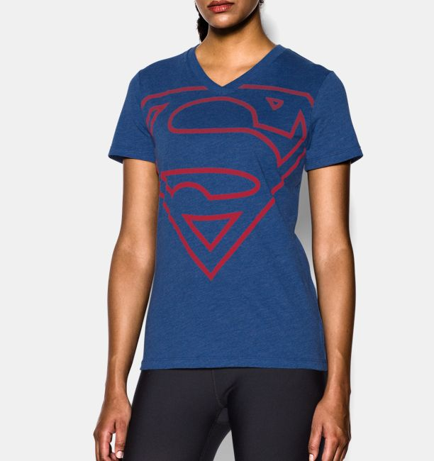 0beacd84 ... Women s Under Armour® Alter Ego Supergirl V-Neck Under Armour ...