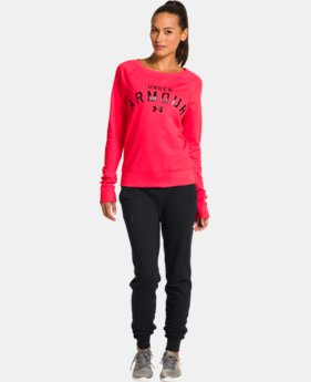 Women's UA Pretty Gritty Blackout Crew  1 Color $40.99