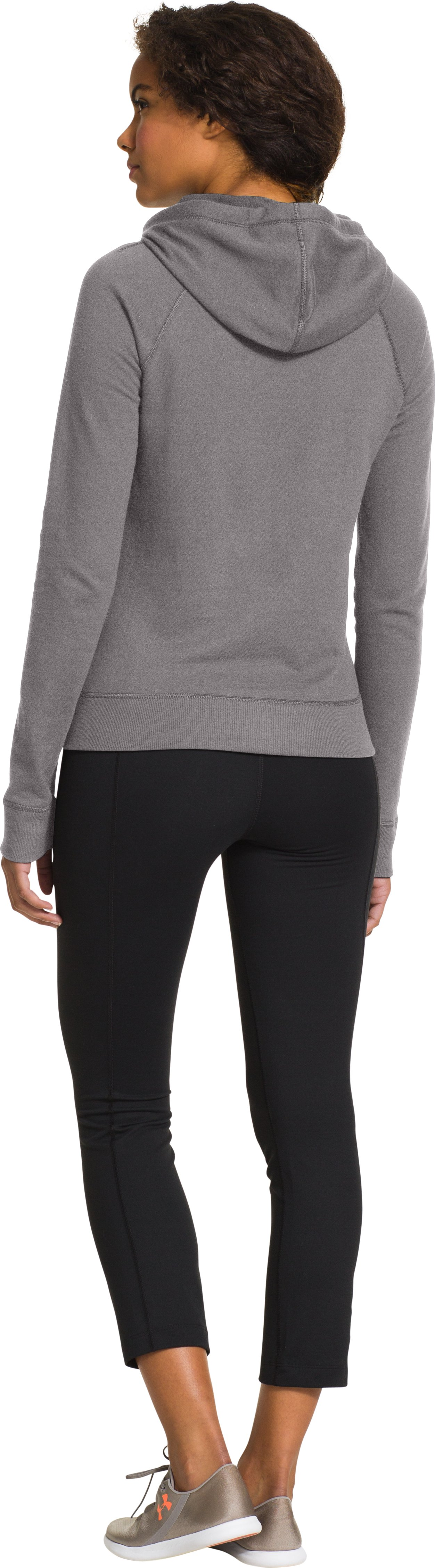 Women's UA Pretty Gritty Jock Hoodie, STEEPLE GRAY, Back