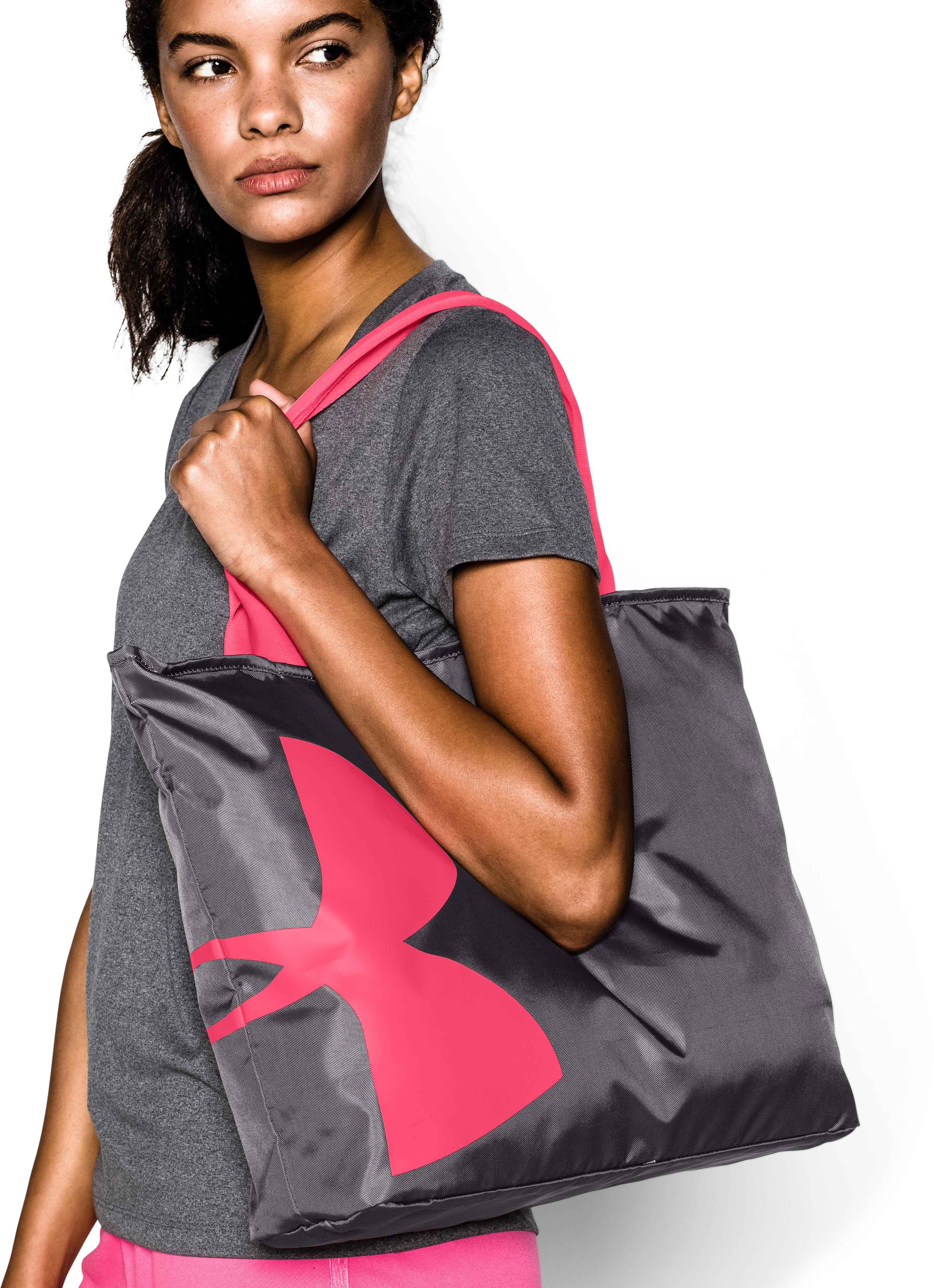 Women's UA Big Logo Tote, DOWNTOWN GREEN