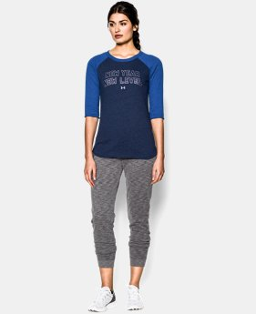Women's UA Charged Cotton® Tri-Blend New Years Raglan   $21.99