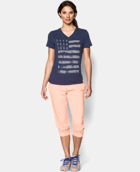 Women's UA Charged Cotton® Tri-Blend Patriotic V-Neck  1 Color $18.99