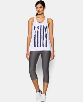 Women's UA Charged Cotton® Tri-Blend Patriotic Tank