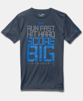 Boys' UA Football Run Hit Score T-Shirt