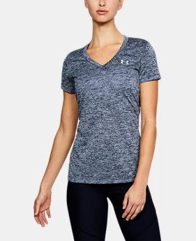 Women's UA Tech™ Twist V-Neck  1  Color Available $18.74