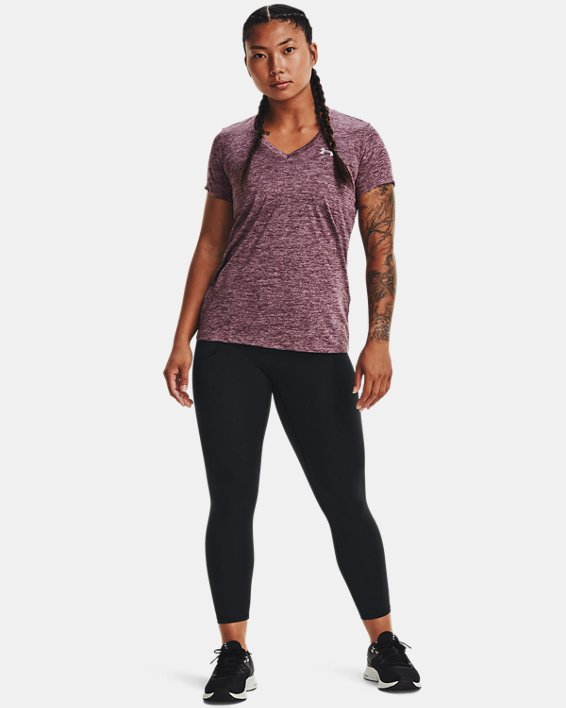 Women's UA Tech™ Twist V-Neck, Purple, pdpMainDesktop image number 2