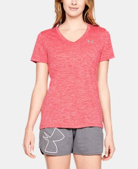 Women's UA Tech™ Twist V-Neck  1  Color Available $22.49