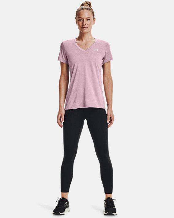 Women's UA Tech™ Twist V-Neck, Pink, pdpMainDesktop image number 2