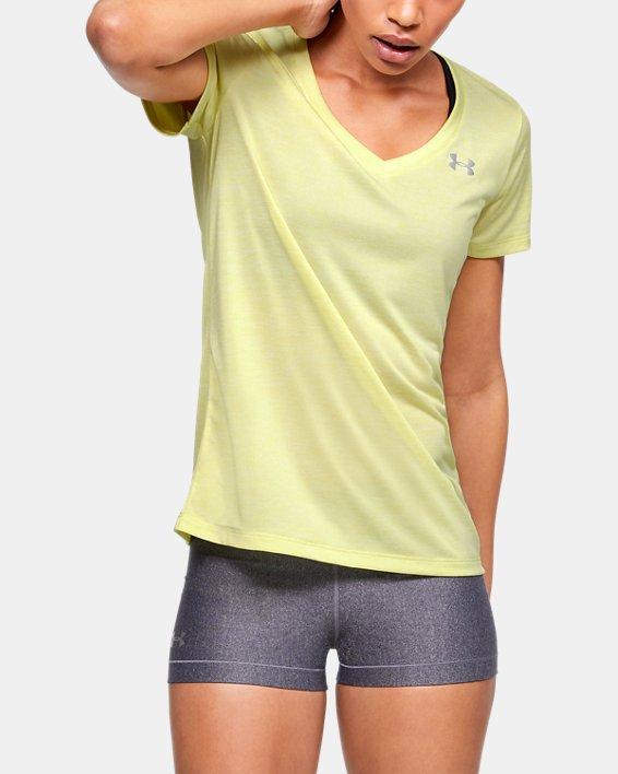 Women's UA Tech™ Twist V-Neck, Yellow, pdpMainDesktop image number 0