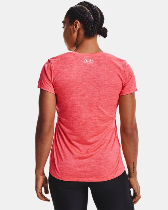 Women's UA Tech™ Twist V-Neck, Pink, pdpMainDesktop image number 1