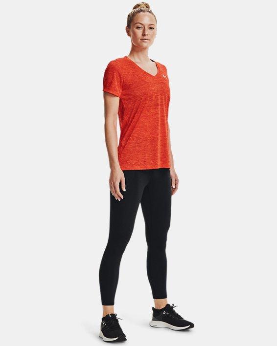 Damen UA Tech™ Oberteil mit Twist-Effekt und V-Ausschnitt, Orange, pdpMainDesktop image number 2