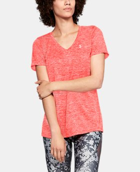 Best Seller Women's UA Tech™ Twist V-Neck FREE U.S. SHIPPING 2  Colors Available $24.99