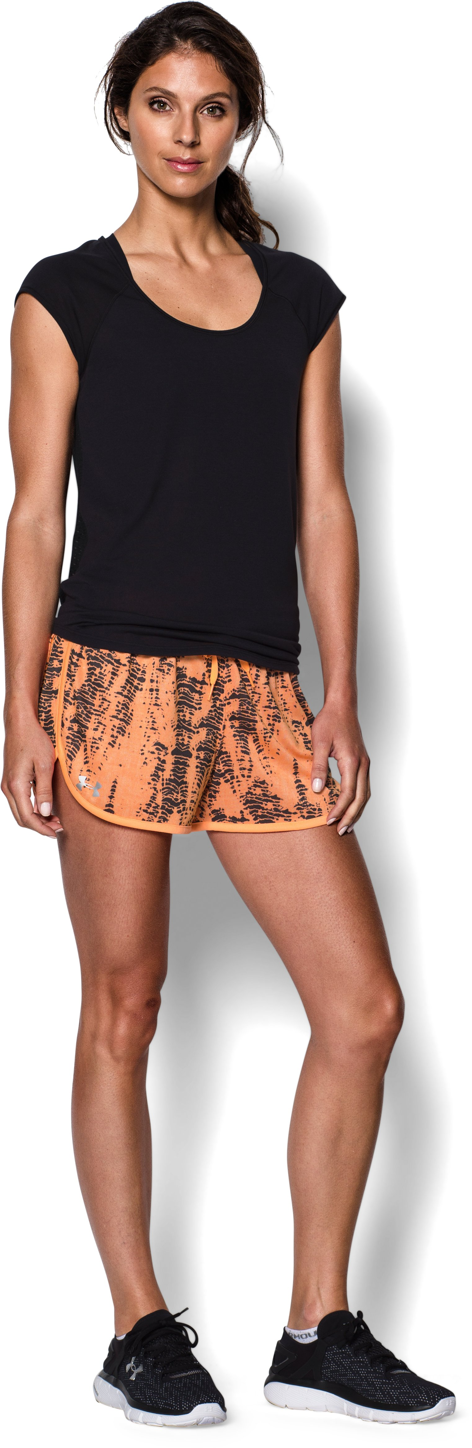 Women's UA Tech™ Printed Short, Afterglow, Front