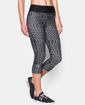 Women's UA HeatGear® Armour Stripe Capri   $23.99 to $29.99