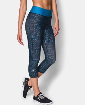 Women's UA HeatGear�� Armour Stripe Capri   $23.99 to $29.99