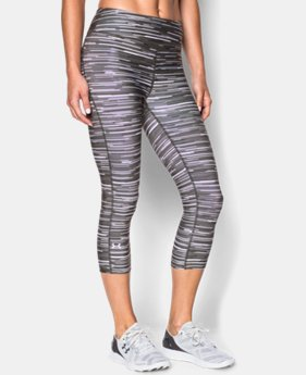 Women's UA HeatGear® Armour Stripe Capri  4 Colors $23.99 to $29.99