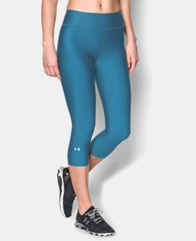 Women's UA HeatGear® Armour Stripe Capri  3 Colors $23.99 to $29.99