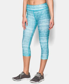 Women's UA HeatGear® Armour Stripe Capri  2 Colors $23.99 to $29.99