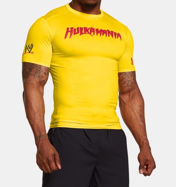 Men s under armour wwe hulkamania compression shirt for Hulk under armour compression shirt