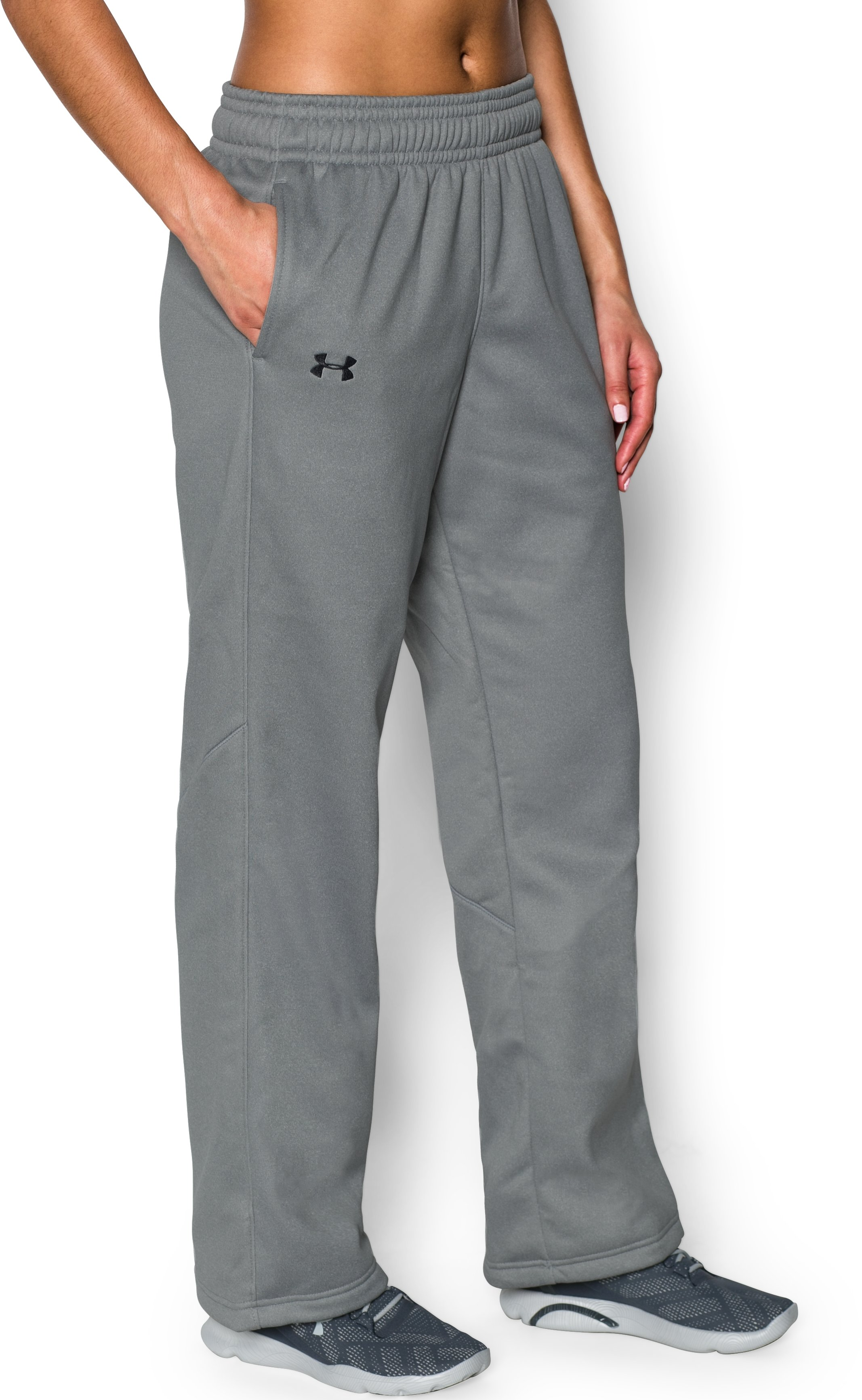 Women's  UA Storm Armour Fleece® Pants, True Gray Heather
