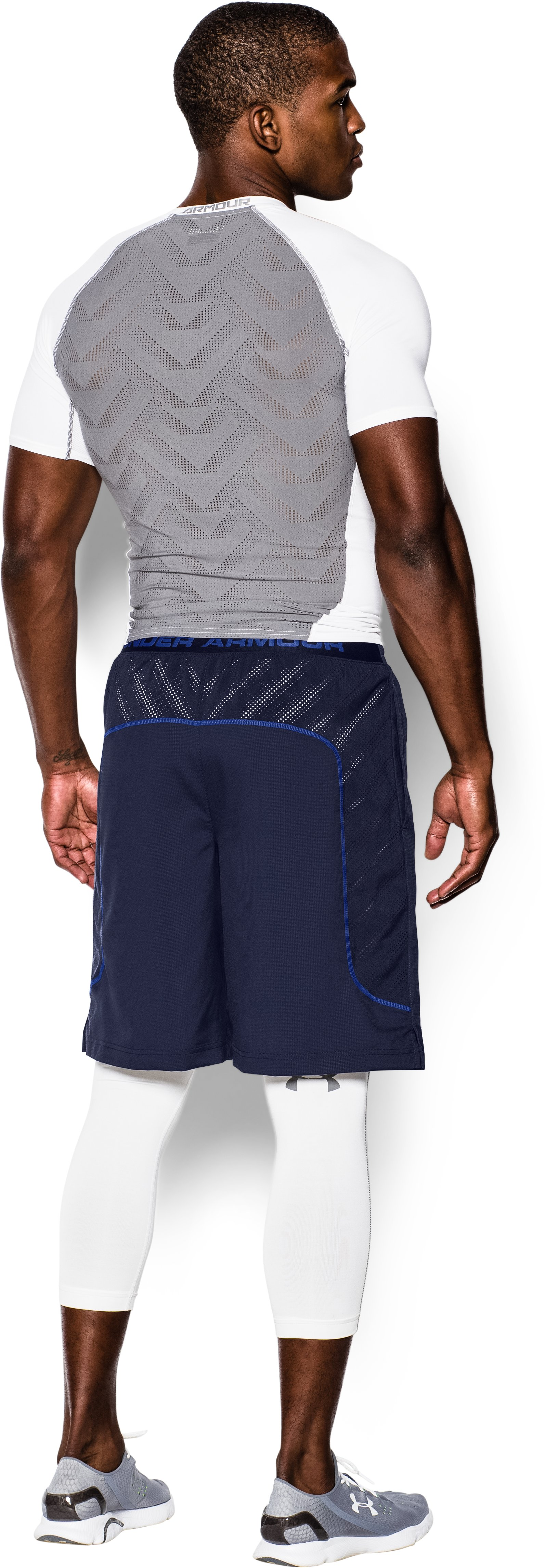 Men's UA HeatGear® ArmourVent™ Guster Shorts, Midnight Navy, Back