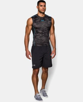 Men's UA HeatGear® Armour Printed Sleeveless Compression Shirt  5 Colors $22.99
