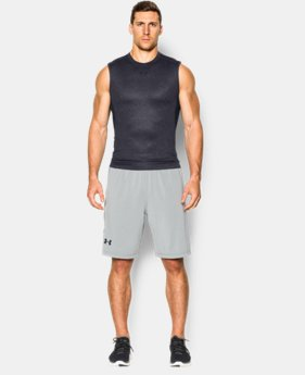 Men's UA HeatGear® Armour Printed Sleeveless Compression Shirt