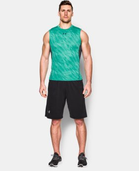 Men's UA HeatGear® Armour Printed Sleeveless Compression Shirt  1 Color $22.99