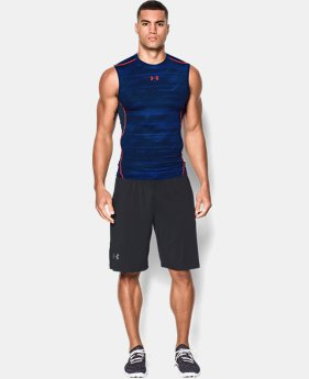 Men's UA HeatGear® Armour Printed Sleeveless Compression Shirt LIMITED TIME: FREE U.S. SHIPPING 1 Color $17.24 to $22.99