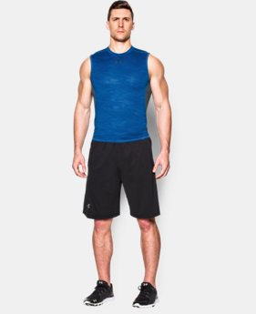 Men's UA HeatGear® Armour Printed Sleeveless Compression Shirt  3 Colors $22.99